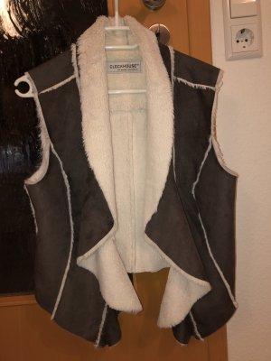 Clockhouse Vest zwart bruin-room