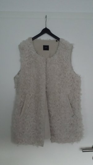 Zero Fake Fur Vest white polyester