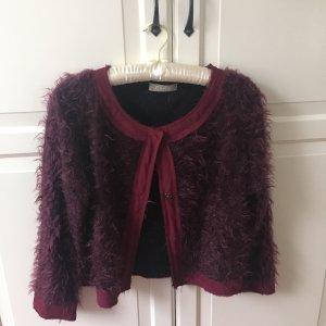 Giacca di lana viola-marrone-viola