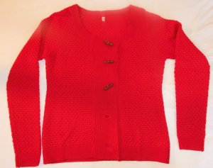 Blutsgeschwister Knitted Vest red wool