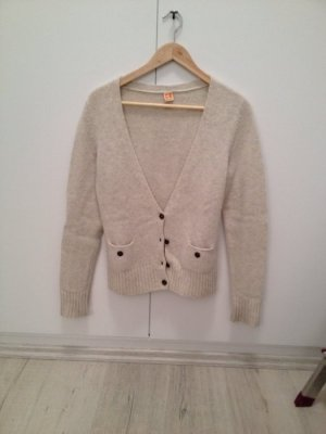 Boss Orange Cardigan all'uncinetto bianco