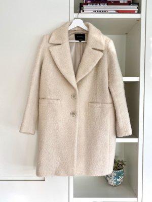 Massimo Dutti Winter Coat natural white mohair