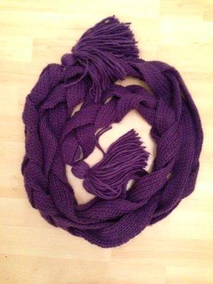 Codello Bufanda de punto violeta oscuro