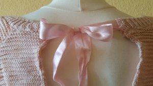 Kuschliger Pullover in Rosé  mit Schleife