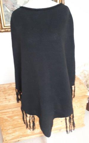 Anna Field Poncho negro