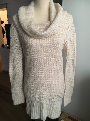 3 Suisses Coarse Knitted Sweater white-oatmeal