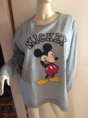 Kuschliges Graues Mickey Mouse Sweatshirt Gr.46-Neu