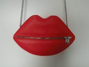 Kussmund - rote Tasche