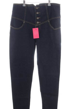 Kustom Hoge taille jeans blauw casual uitstraling