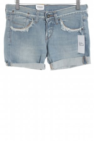 Kuyichi Shorts hellblau-graublau Used-Optik