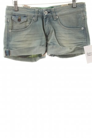 Kuyichi Shorts hellblau-sandbraun Casual-Look