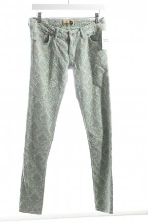 Kuyichi Skinny Jeans mint-graubraun Ornamentenmuster Street-Fashion-Look