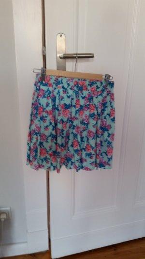 Mini-jupe rose-bleu clair