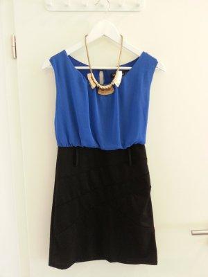 kuzes Kleid in Blau/ Schwarz, Gr. M/L