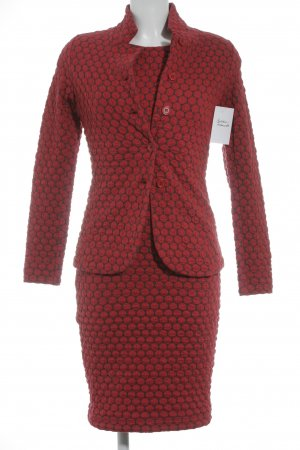 Kyra&Ko Woven Twin Set anthracite-red spot pattern classic style