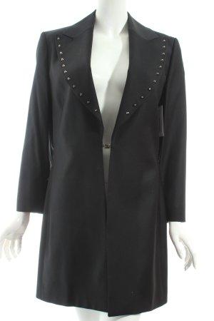 Kyuso Geklede jas zwart straat-mode uitstraling