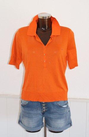 L 40 42 ● ESCADA SPORT ● Feinstrick Pullover Shirt Polo in Mandarin ● wie neu
