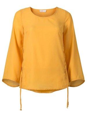L 40 ● Designer Tunika von Sheego in Mango ● Bluse geschnürt ● Neu