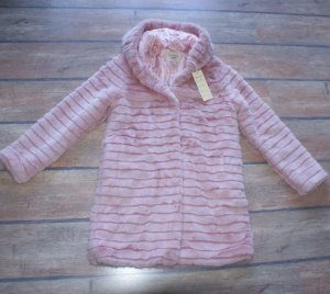 L 40 FASCINATE Fake fur Jacke Mantel in Rosé ~ NEU ~ Pelz Cut ~ Blogger Style - Frühling
