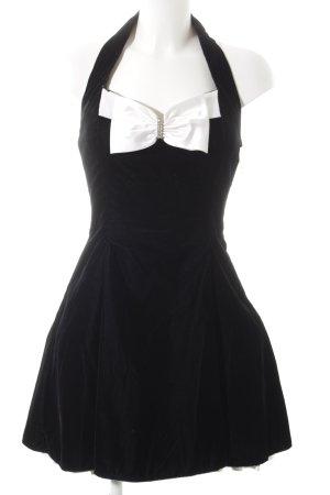 L.A. Glo Minikleid schwarz-weiß Romantik-Look