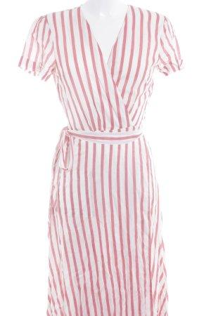 L'academie Vestido cruzado blanco puro-rojo claro estampado a rayas