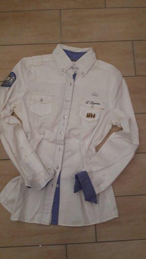 Largentina Blusa de manga larga blanco