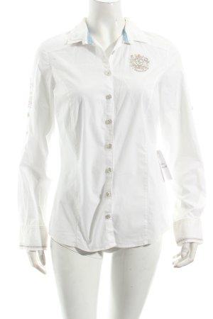 L'Argentina Hemd-Bluse weiß schlichter Stil