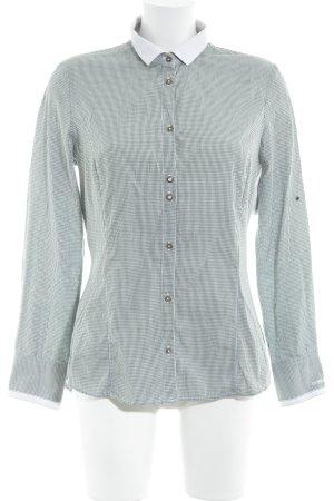 L'Argentina Langarmhemd dunkelgrün-weiß Karomuster klassischer Stil