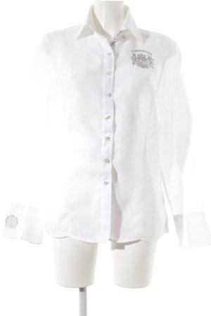 L'Argentina Langarmhemd weiß schlichter Stil
