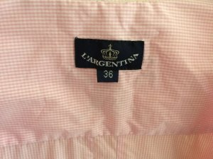 L'Argentina leichte Bluse rosa-weiß kariert