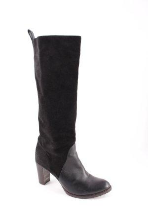 L'Autre Chose Absatz Stiefel schwarz schlichter Stil