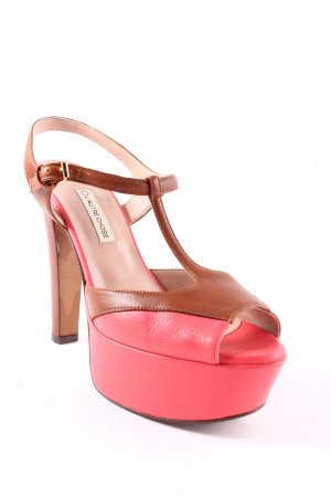 L'Autre Chose High Heel Sandaletten pink-braun Colourblocking Elegant