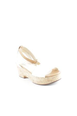 "L'Autre Chose Platform High-Heeled Sandal ""Sughero Opaco Natural"""