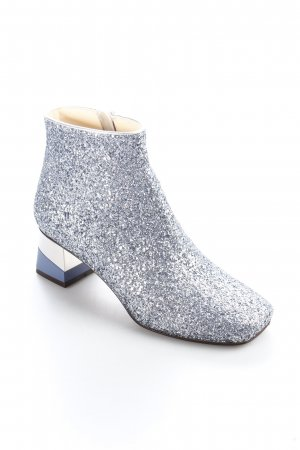L'Autre Chose Zipper Booties silver-colored extravagant style