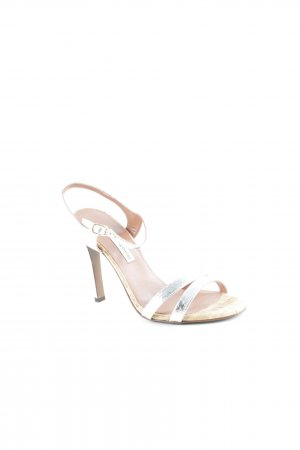 L'Autre Chose Strapped High-Heeled Sandals silver-colored-cognac-coloured