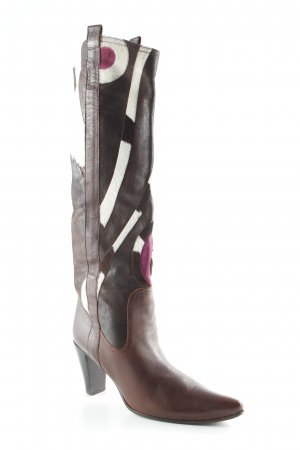 L'Autre Chose Schaftstiefel abstraktes Muster Country-Look