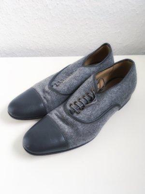 L'Autre Chose Schuhe Halbschuhe Wolle grau Echtleder Leder Luxus Premium 39
