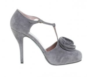 L'AUTRE CHOSE Schuhe Pumps Grau 37 Wildleder Mary Jane High Heels Suede Grey