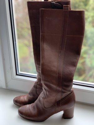 L'Autre Chose Botas estilo militar marrón