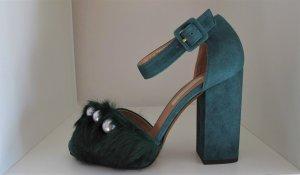 L'Autre Chose High Heel Sandal petrol-white