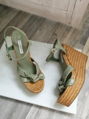 Wedge Sandals sage green