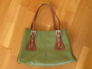 L.Credi Handtasche grün Echtleder