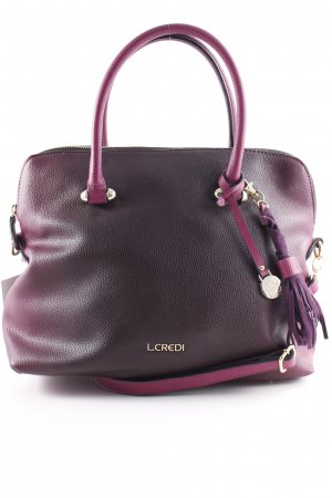 L.credi Handtasche purpur-violett Casual-Look