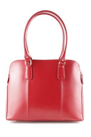 L.credi Handtasche rot-goldfarben klassischer Stil