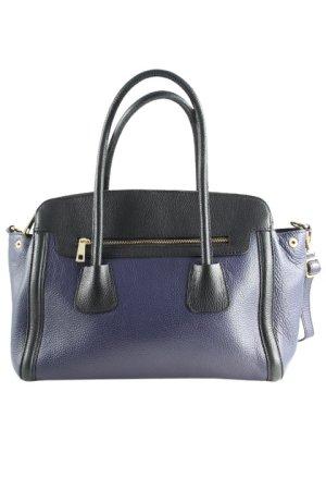 L.credi Handtasche schwarz-blauviolett Casual-Look
