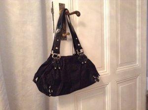 L.Credi-Handtasche schwarz, edles Muster***