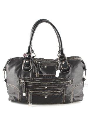 L.credi Handtasche schwarz-goldfarben Street-Fashion-Look