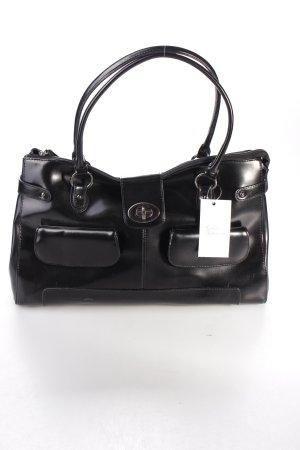 L.credi Handtasche schwarz schlichter Stil