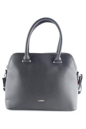 L.credi Handtasche schwarz-silberfarben Business-Look