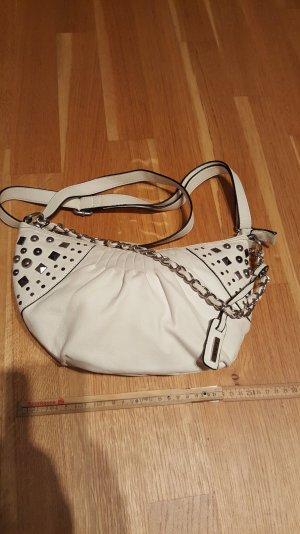 L.credi Handtasche weiss mit Nieten